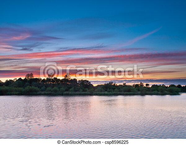 Spectacular sunset - csp8596225