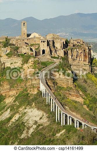 spectacular view of Civita di Bagnoregio - csp14161499
