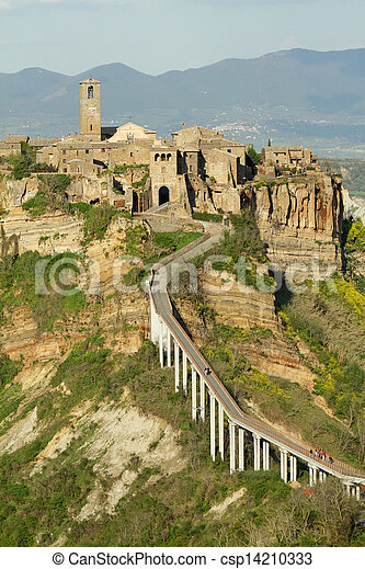 spectacular view of Civita di Bagnoregio - csp14210333