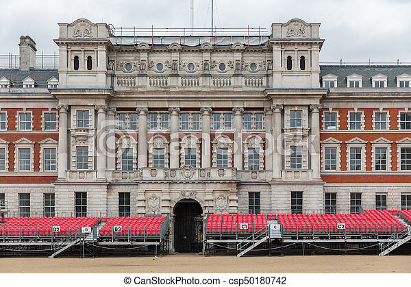 Spectator platform for Horse Guards parade in London - csp50180742
