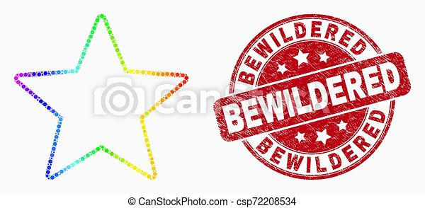 spectral, 当惑させている, 星, 点を打たれた, 切手, ベクトル, シール, グランジ, アイコン - csp72208534