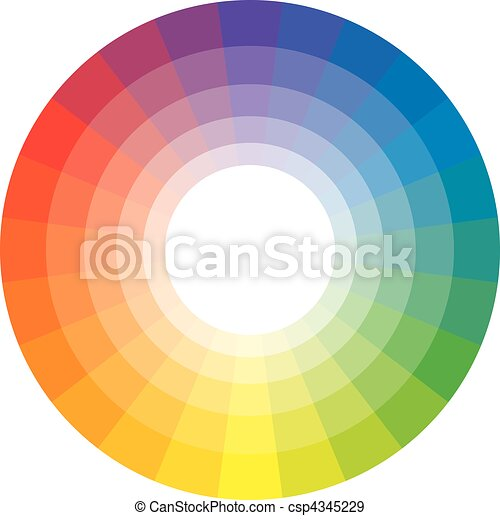 Círculo multicolor de 24 - csp4345229