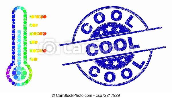 spectral, détresse, timbre, vecteur, température, icône, point, frais - csp72217929