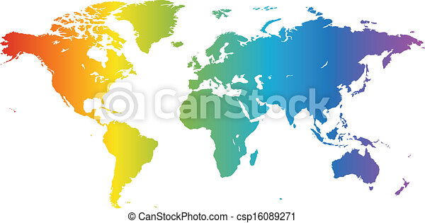 Spectral world map multicolored high quality vector map of spectral world map csp16089271 gumiabroncs Images