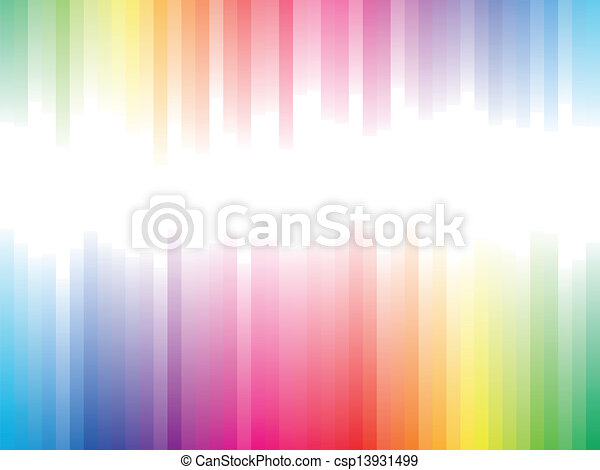Spectrum stripes horizontal background with white copy space. - csp13931499