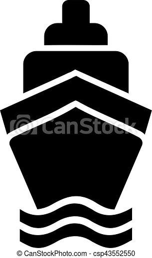 spedisca crociera, icona - csp43552550