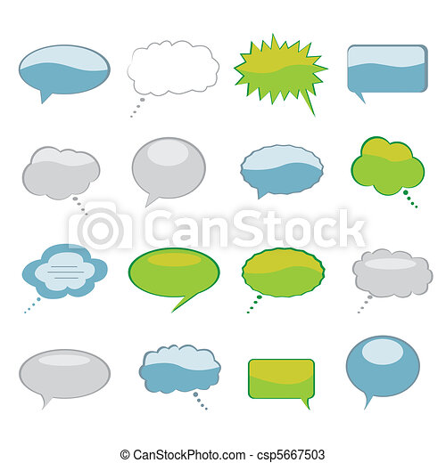 Speech and Thought Bubbles - csp5667503