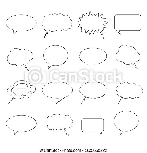 Speech and thought bubbles - csp5668222