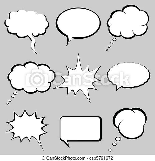 Speech and thought bubbles - csp5791672