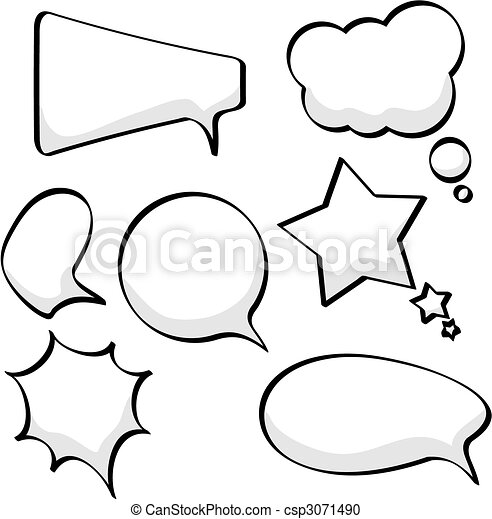 Speech and thought bubbles - csp3071490