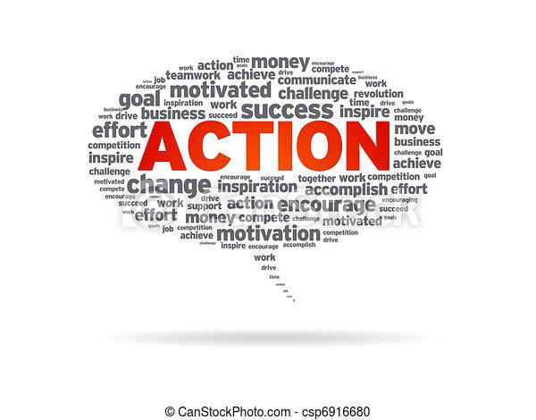 Speech Bubble - Action - csp6916680