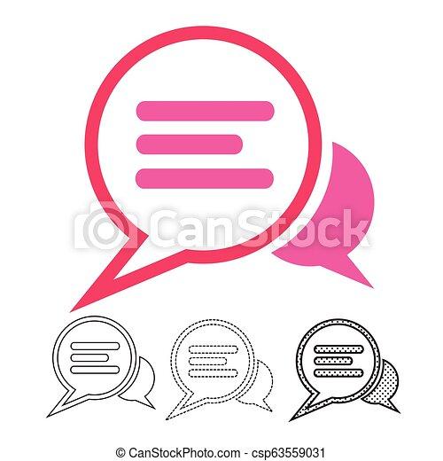 speech bubble chat vector icon - csp63559031