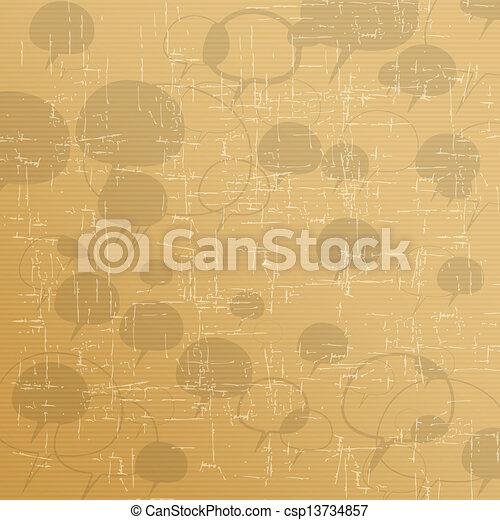 Speech bubble icon vector - csp13734857