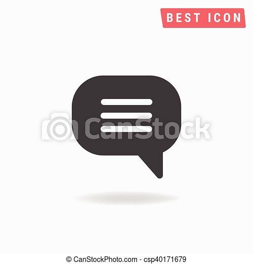Speech bubble Icon Vector. - csp40171679