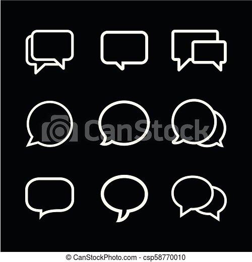 Speech Bubble icon vector - csp58770010