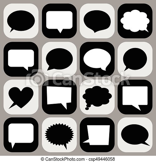Speech bubble icons - csp49446058