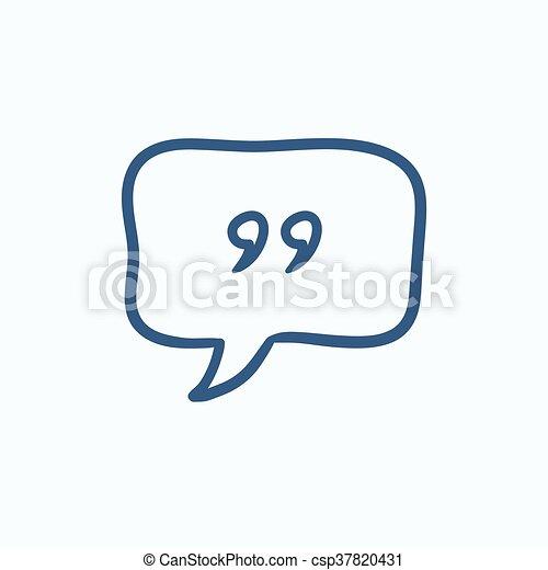 Speech bubble sketch icon