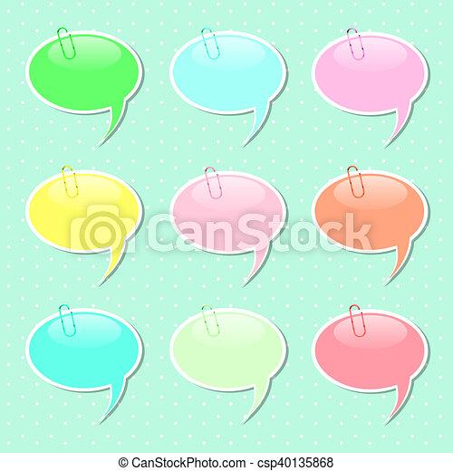speech bubble sticker shapes in pastel colors speech bubble paper
