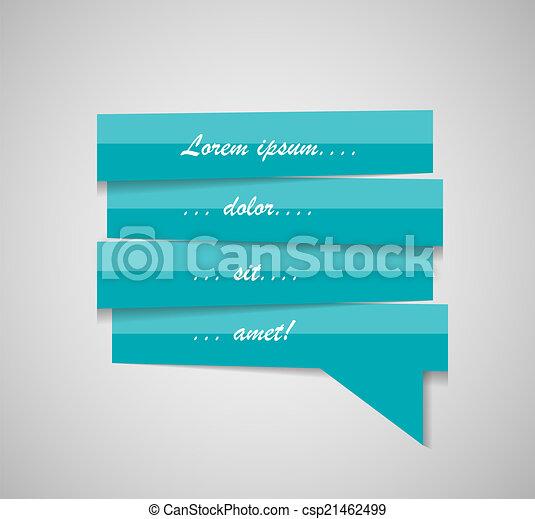 Speech Bubble Template Vector Illustration - csp21462499