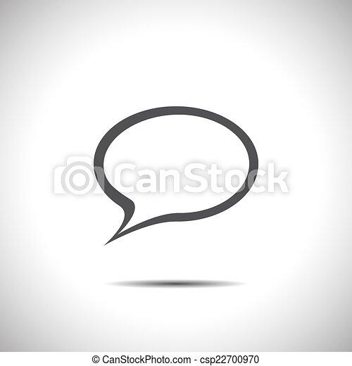 speech bubble vector icon - csp22700970