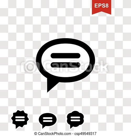 Speech Bubble Vector Icon - csp49549317