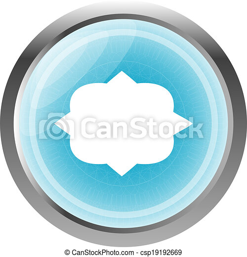 speech bubble web app button icon isolated on white