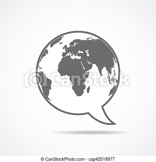 Speech bubble with earth map inside vector illustration vectors speech bubble with earth map inside vector illustration publicscrutiny Gallery