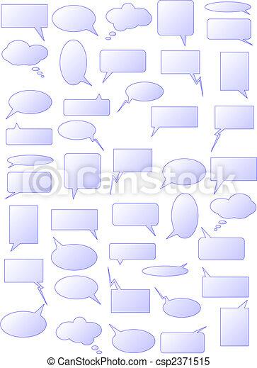 Speech bubbles - csp2371515