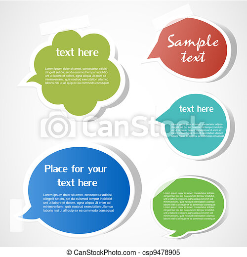 Speech bubbles - csp9478905