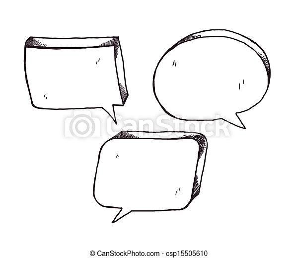 speech bubbles - csp15505610