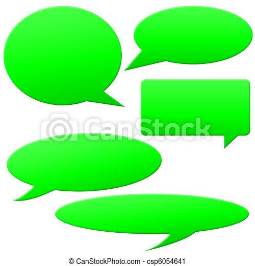 Speech bubbles - csp6054641