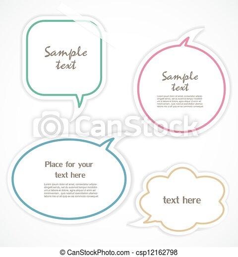 Speech bubbles - csp12162798
