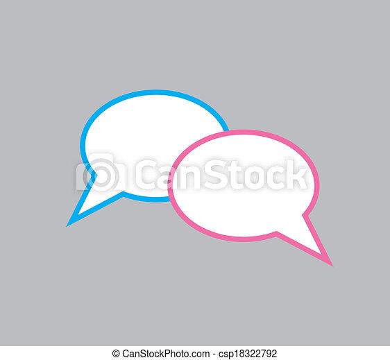 Speech bubbles - csp18322792