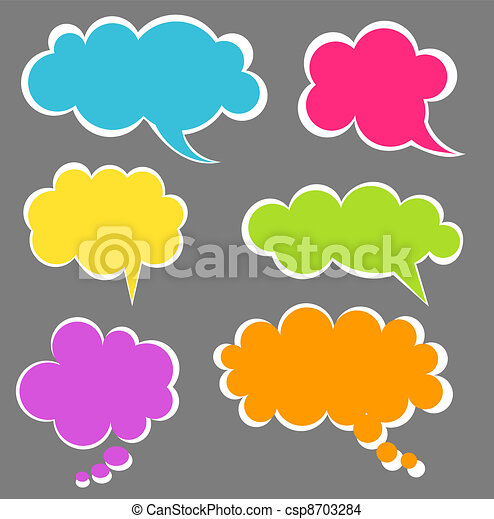 Speech bubbles - csp8703284