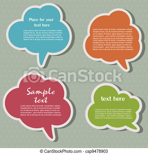 Speech bubbles - csp9478903