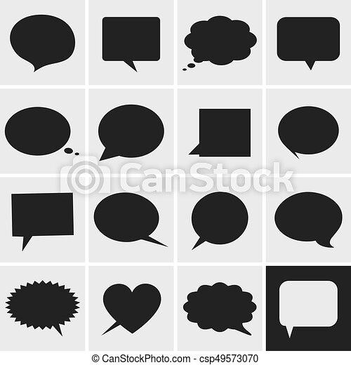 Speech bubbles icons - csp49573070