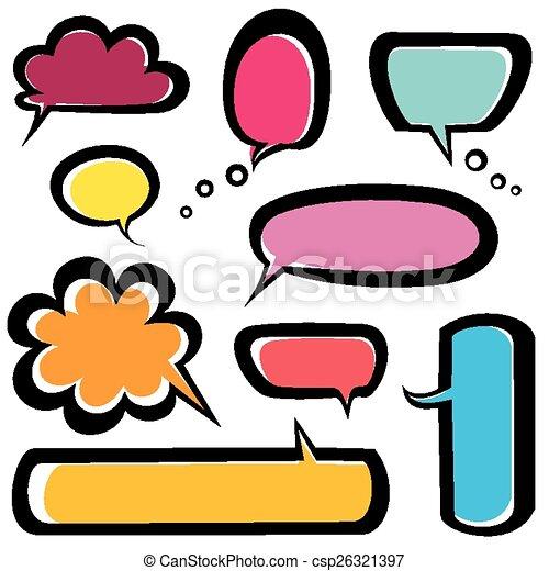 speech bubbles icons set - csp26321397