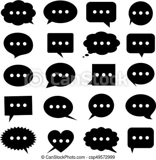 Speech bubbles icons set - csp49572999