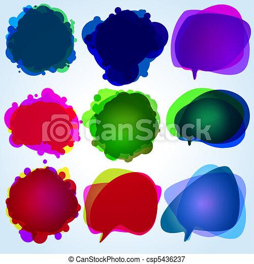 Speech bubbles. Original illustration. EPS 8 - csp5436237