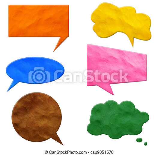 Speech Bubbles plasticine  - csp9051576