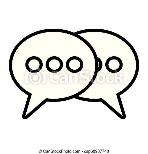 speech bubbles talk - csp68907740