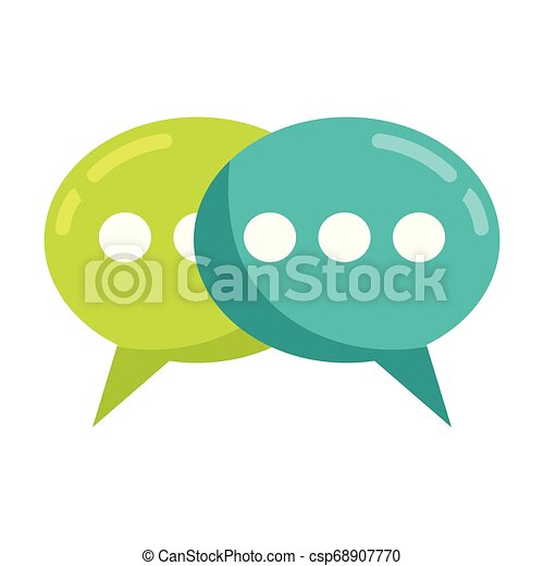 speech bubbles talk - csp68907770