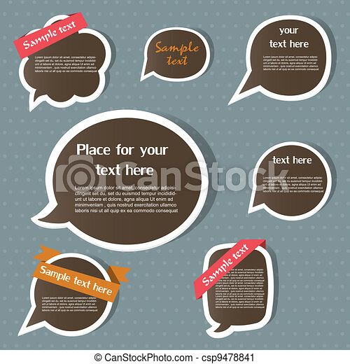 Speech bubbles - csp9478841
