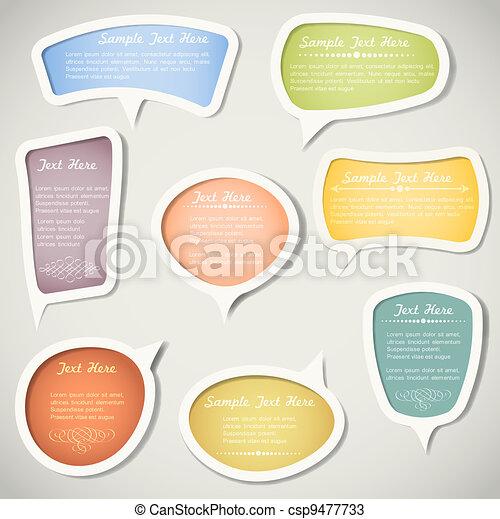 Speech bubbles  with calligraphic elements - csp9477733