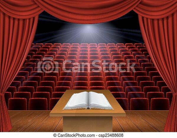 speech from the podium - csp23488608