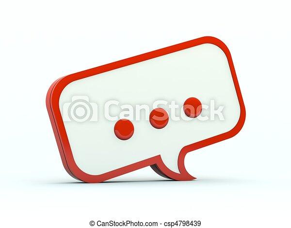 Speech icon. Red series - csp4798439