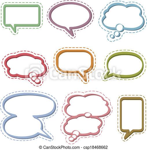 Speech & Thought Bubbles - csp18468662