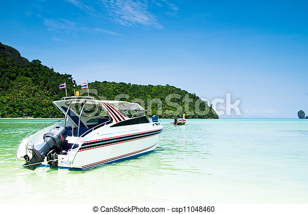 speed boat in sea - csp11048460