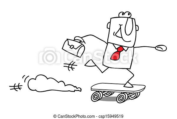 speed businessman - csp15949519