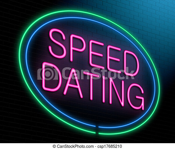 Speed dating concept. Illustration depicting an